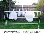 white disposable diaper hanging ... | Shutterstock . vector #1101304364