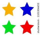 set of stars  red  orange  blue ...