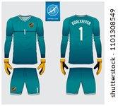 goalkeeper jersey or soccer kit ... | Shutterstock .eps vector #1101308549