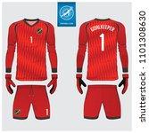 goalkeeper jersey or soccer kit ... | Shutterstock .eps vector #1101308630