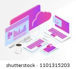 business analysis system ... | Shutterstock .eps vector #1101315203