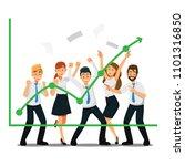 happy team businessman .vector... | Shutterstock .eps vector #1101316850