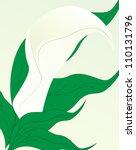 illustration of white calla | Shutterstock . vector #110131796