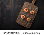mini catering sandwiches with... | Shutterstock . vector #1101318719