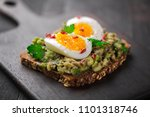 wholegrain toast bread with... | Shutterstock . vector #1101318746