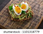 wholegrain toast bread with... | Shutterstock . vector #1101318779