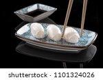 squid nigiri sushi set isolated ... | Shutterstock . vector #1101324026