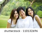 asian senior woman and... | Shutterstock . vector #110132696