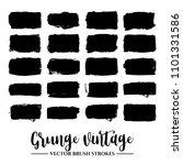 set of black brush stroke and... | Shutterstock .eps vector #1101331586