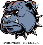 bulldog head vector showing an... | Shutterstock .eps vector #1101331673