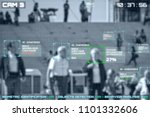 simulation of a screen of cctv... | Shutterstock . vector #1101332606
