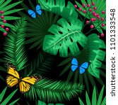 exotic tropical nature... | Shutterstock .eps vector #1101333548