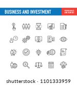 business and investment  line... | Shutterstock .eps vector #1101333959