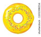 colorful donut on white... | Shutterstock .eps vector #1101338216