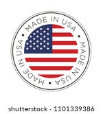 made in usa flag icon. | Shutterstock .eps vector #1101339386