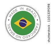 made in brazil flag icon. | Shutterstock .eps vector #1101339398