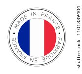made in france flag icon. | Shutterstock .eps vector #1101339404