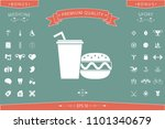hamburger or cheeseburger ...   Shutterstock .eps vector #1101340679