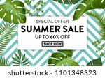 summer sale banner with exotic... | Shutterstock .eps vector #1101348323