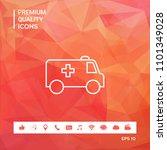 ambulance line icon | Shutterstock .eps vector #1101349028