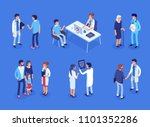 doctor and patients concept... | Shutterstock .eps vector #1101352286