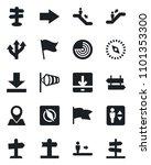 set of vector isolated black... | Shutterstock .eps vector #1101353300