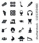 set of vector isolated black... | Shutterstock .eps vector #1101353480