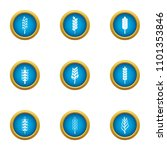 cereal icons set. flat set of 9 ... | Shutterstock .eps vector #1101353846