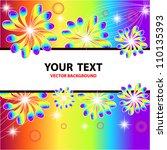 colorful flower vector...   Shutterstock .eps vector #110135393