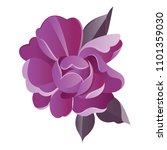 violet flower vector watercolor ... | Shutterstock .eps vector #1101359030