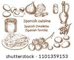 spanish cuisine. spanish...   Shutterstock .eps vector #1101359153