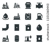 black vector icon set water... | Shutterstock .eps vector #1101360443