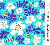 floral background. seamless... | Shutterstock .eps vector #1101361103