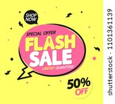 flash sale  banner design... | Shutterstock .eps vector #1101361139
