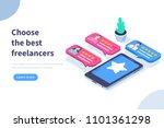 freelancers service concept... | Shutterstock .eps vector #1101361298