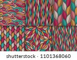 abstract wavy lines seamless... | Shutterstock .eps vector #1101368060