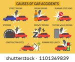 causes of car accidents... | Shutterstock .eps vector #1101369839