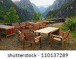 cafe in mountains  stolkheym... | Shutterstock . vector #110137289