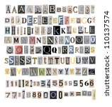 collection alphabet on white... | Shutterstock . vector #110137574