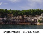 pictured rocks national park on ... | Shutterstock . vector #1101375836