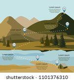 layers of mountain landscape...   Shutterstock .eps vector #1101376310