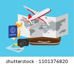 concept of travelling around... | Shutterstock .eps vector #1101376820