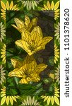 vector mosaic with yellow... | Shutterstock .eps vector #1101378620