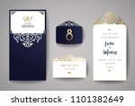 wedding invitation or greeting... | Shutterstock .eps vector #1101382649