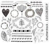 vector hand drawn doodle... | Shutterstock .eps vector #1101383819
