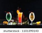 multi colored alcoholic... | Shutterstock . vector #1101390143