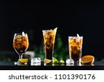 alcoholic beverages whiskey and ... | Shutterstock . vector #1101390176