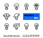Outline Icons Set Of Idea...