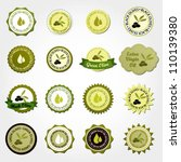 collection of olive labels | Shutterstock .eps vector #110139380