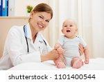 portrait of happy smiling baby... | Shutterstock . vector #1101400544